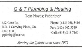 Tom Noyes - G & T Plumbing & Heating