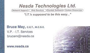 Bruce May - Nesda Technologies Ltd.
